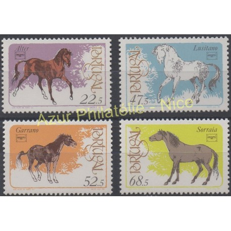 Portugal - 1986 - No 1668/1671 - Chevaux