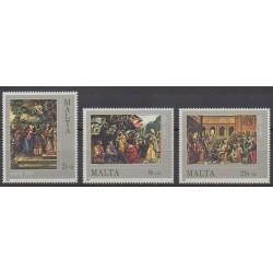 Malte - 1984 - No 694/696 - Peinture