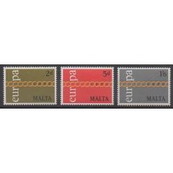 Malta - 1971 - Nb 424/426 - Europa