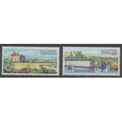 Malte - 1977 - No 549/550 - Ponts - Europa