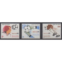 Malte - 1986 - No 729/731 - Coupe du monde de football