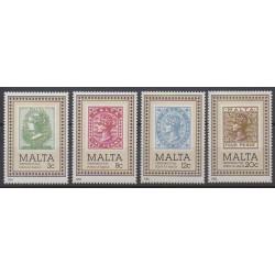 Malte - 1985 - No 700/703 - Timbres sur timbres