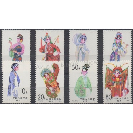Stamps - Theme costumes uniforms - China - 1983 - Nb 2600/2607