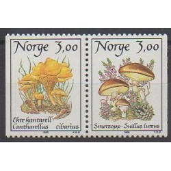 Norway - 1989 - Nb 966/967 - Mushrooms
