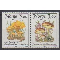 Norvège - 1989 - No 966/967 - Champignons