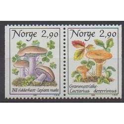 Norway - 1988 - Nb 946/947 - Mushrooms