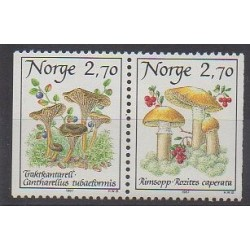Norway - 1987 - Nb 924/925 - Mushrooms