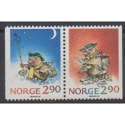 Norvège - 1988 - No 964/965 - Noël - Dessins Animés - BD