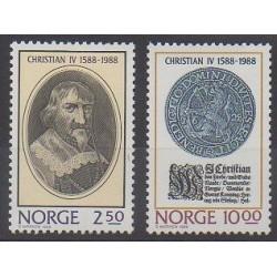 Norvège - 1988 - No 958/959 - Royauté - Principauté - Monnaies, billets ou médailles