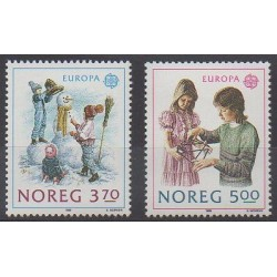 Norway - 1989 - Nb 976/977 - Childhood - Europa
