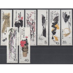 Stamps - Theme paintings - China - 1980 - Nb 2333/2340