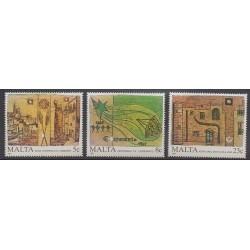 Malte - 1987 - No 753/755 - Peinture