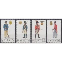 Malta - 1988 - Nb 778/781 - Military history
