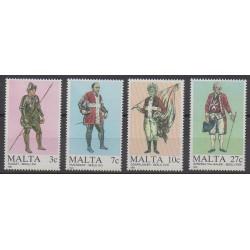 Malte - 1987 - No 749/752 - Histoire militaire