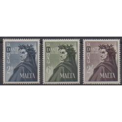 Malte - 1965 - No 322/324 - Célébrités - Littérature