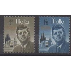 Malte - 1966 - No 344/345 - Célébrités