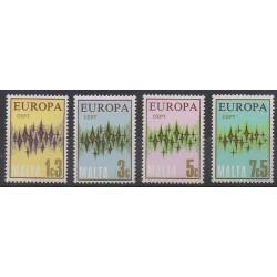 Malta - 1972 - Nb 452/455 - Europa