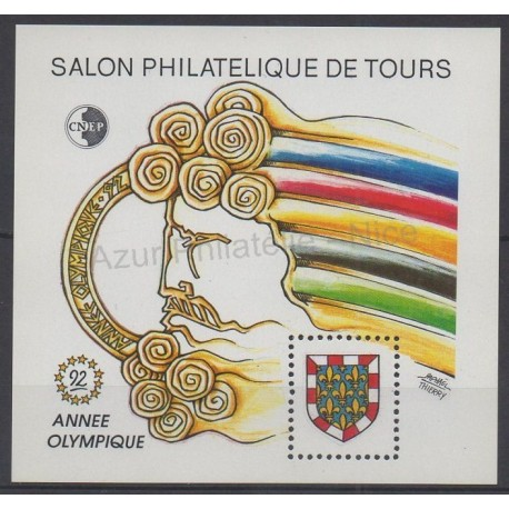 France - CNEP Sheets - 1992 - Nb CNEP 15 - Winter olympics