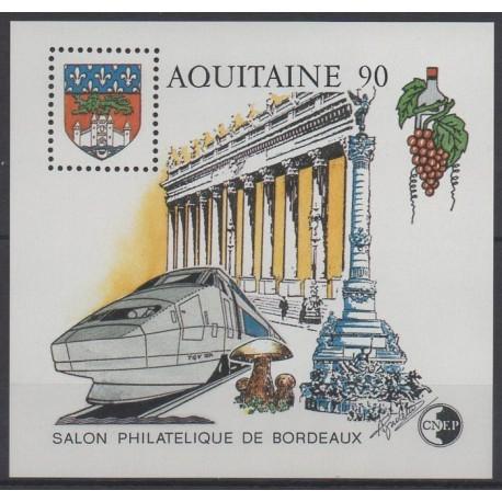 France - Feuillets CNEP - 1990 - No CNEP 12 - Trains