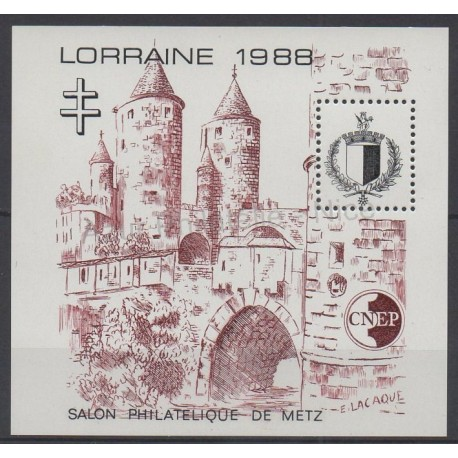 France - Feuillets CNEP - 1988 - No CNEP 9 - Monuments