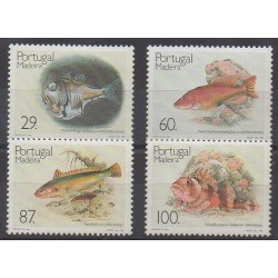 Portugal (Madère) - 1989 - No 136/139 - Animaux marins