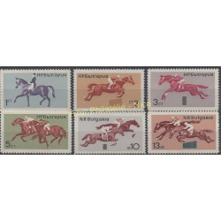 Bulgarie - 1965 - No 1356/1361 - Chevaux