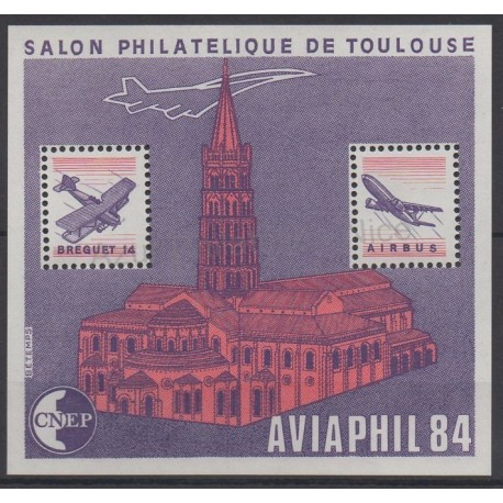 France - Feuillets CNEP - 1984 - No CNEP 5 - Avions