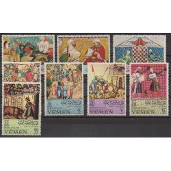 Yemen - Arab republic - 1967 - Nb 247 - PA68 - Chess - Paintings