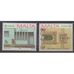 Malte - 1990 - No 810/811 - Service postal - Europa