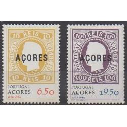 Portugal (Açores) - 1980 - No 323/324 - Timbres sur timbres