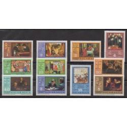 Nicaragua - 1976 - Nb 1033/1040 - PA857/PA859 - Chess - Paintings