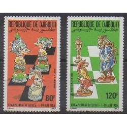 Djibouti - 1986 - Nb PA229/PA230 - Chess