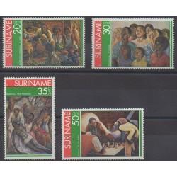 Surinam - 1976 - No 654/657 - Échecs - Peinture