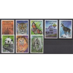Tajikistan - 2003 - Nb 192/199 - Animals - Philately
