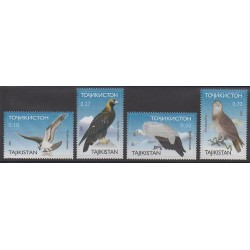 Tadjikistan - 2001 - No 136A/136D - Oiseaux