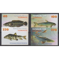 Tajikistan - 2000 - Nb 131/134 - Sea animals
