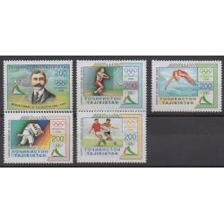 Tadjikistan - 1996 - No 81/85 - Jeux Olympiques d'été