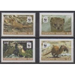 Tajikistan - 2013 - Nb 465/468 - Mamals - Endangered species - WWF