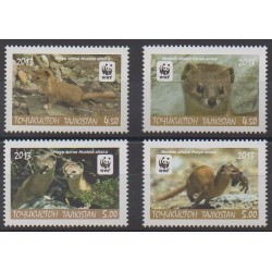 Tadjikistan - 2013 - No 465/468 - Mammifères - Espèces menacées - WWF