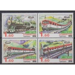 Tadjikistan - 2013 - No 469/472 - Chemins de fer