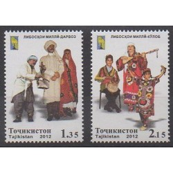 Tajikistan - 2012 - Nb 442/443 - Costumes - Uniforms - Fashion - Music