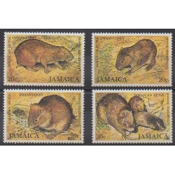 Jamaïque - 1981 - No 508/511 - Mammifères