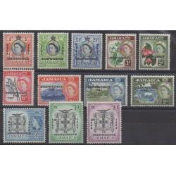Jamaïque - 1962 - No 188/199 - Neufs avec charnière
