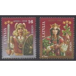 Lettonie - 1995 - No 372/373 - Europa