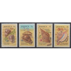 Jamaïque - 1987 - No 661/664 - Animaux marins