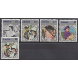 Jamaïque - 1985 - No 620/623 - 621a - Royauté - Principauté