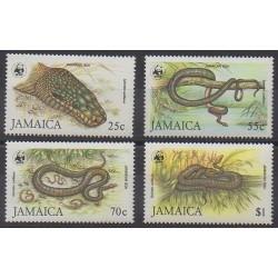Jamaïque - 1984 - No 604/607 - Reptiles - Espèces menacées - WWF