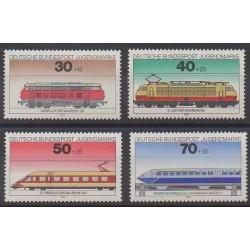 Allemagne occidentale (RFA) - 1975 - No 685/688 - Chemins de fer