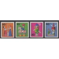 West Germany (FRG) - 1971 - Nb 551/554 - Childhood