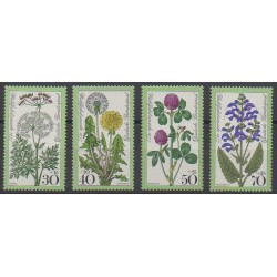 Allemagne occidentale (RFA) - 1977 - No 796/799 - Fleurs
